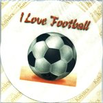 I Love Football 20cm