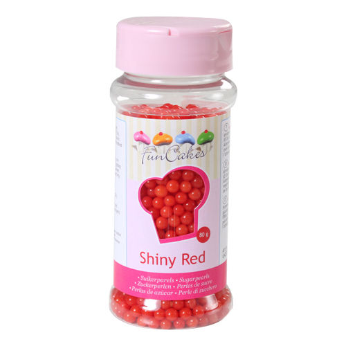 FunCakes Sugarpearls -Shiny Red- 80g