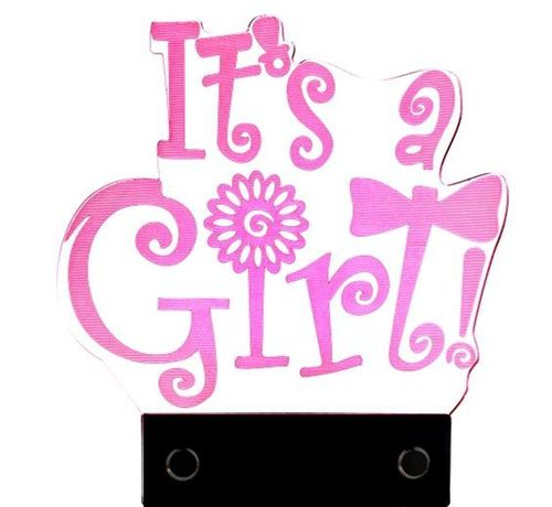 "LED CAKE TOPPER -""It´s a girl"""