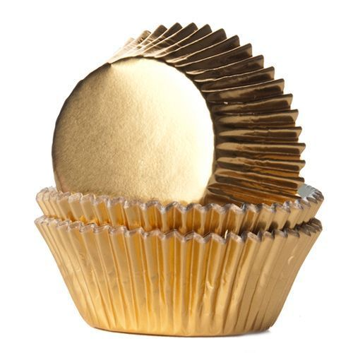 HOUSE OF MARIE BAKING CUPS FOLIE GOLD 24/PKG