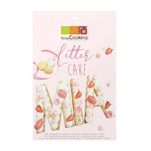 SCRAPCOOKING CAKE TEMPLATE LETTER SET/26
