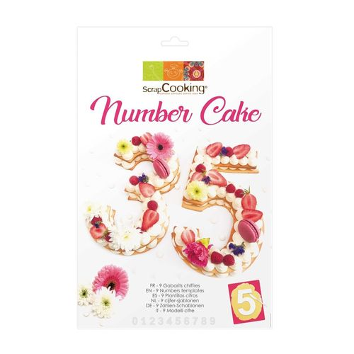 SCRAPCOOKING CAKE TEMPLATE NUMBER SET/9