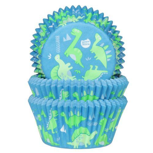 HOUSE OF MARIE BAKING CUPS DINOSAURIER PK/50