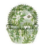 HOUSE OF MARIE BAKING CUPS GREEN LEAVES PK/50