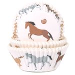 HOUSE OF MARIE BAKING CUPS HORSES PK/50