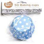 HOUSE OF MARIE BAKING CUPS POLKADOT BLUE - PK/50