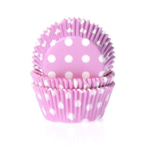 HOUSE OF MARIE BAKING CUPS POLKADOT PINK - PK/50