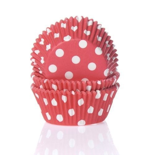 HOUSE OF MARIE BAKING CUPS POLKADOT RED - PK/50