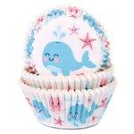 HOUSE OF MARIE BAKING CUPS WHALE PK/50
